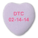 Valentine heart reads DTC 02-14-14